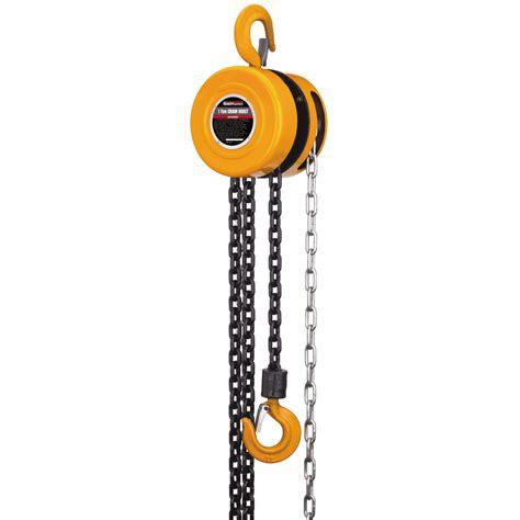 16 ft chain hoist 1 ton capacity
