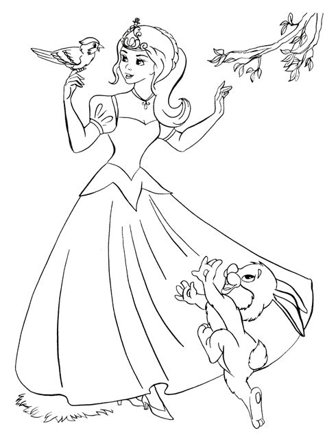 good coloring pages of animals coloring page the princess and the good animals