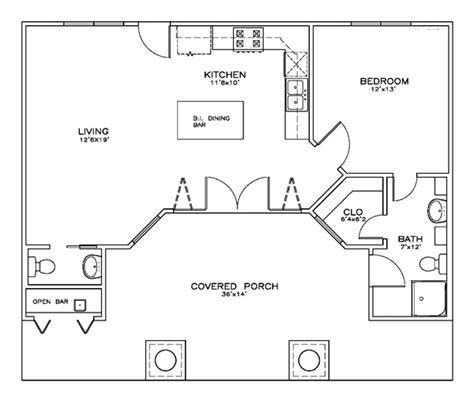 pool guest house plans first floor plan of cottage craftsman house plan 59356
