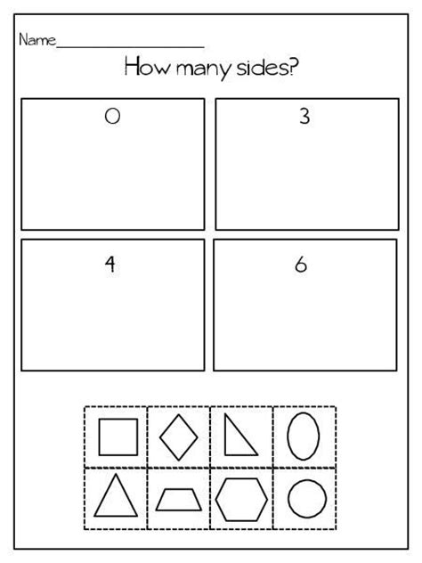 printable shapes for sorting sorting by attributes kindergarten worksheets sorting