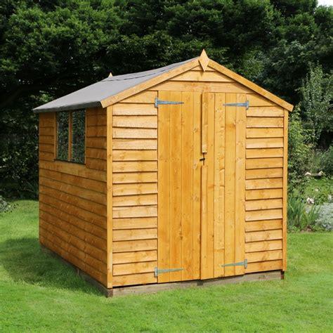 overlap apex wooden garden shed pick  delivery slot