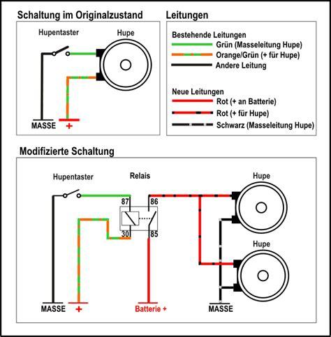 Motorrad Hupe Umbauen by Modifizierte Schaltung Hupenrelais Umbau Von