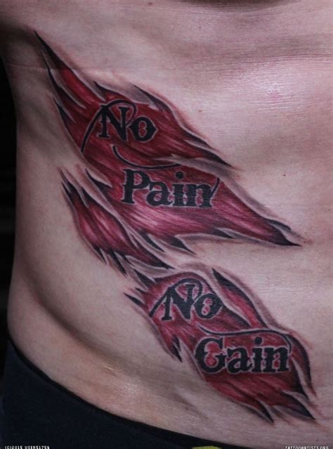 no pain no gain tattoo no no gain artists org