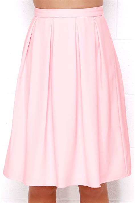 light pink pleated skirt lovely light pink skirt midi skirt pleated skirt
