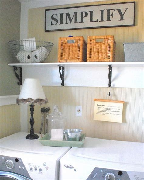 Laundry Room Decor Ideas Like The Shelf The Washer And Dryer Laundry Room Pinterest Shelves Washer And Dryer
