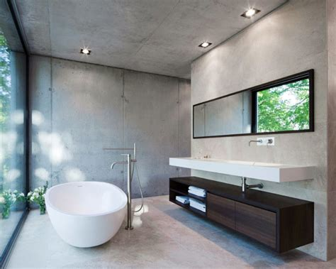 Concrete Home Designs by Modern Residential Building Interiorzine