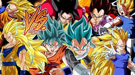 imagenes de goku todas las transformaciones la batalla final goku vs vegeta todas las