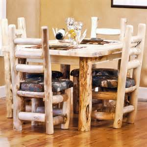 Log Dining Room Sets Dining Table Log Dining Table Sets