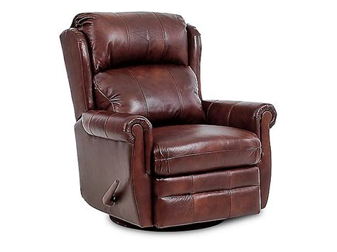 Swivel Glider Recliner Leather by Error Hom Furniture