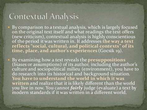 Contextual Analysis Essay by Contextual Analysis Essay Sle