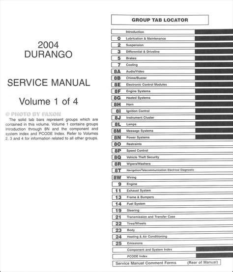 service manual 2004 dodge durango auto repair manual free haynes repair manual for 2000 2004