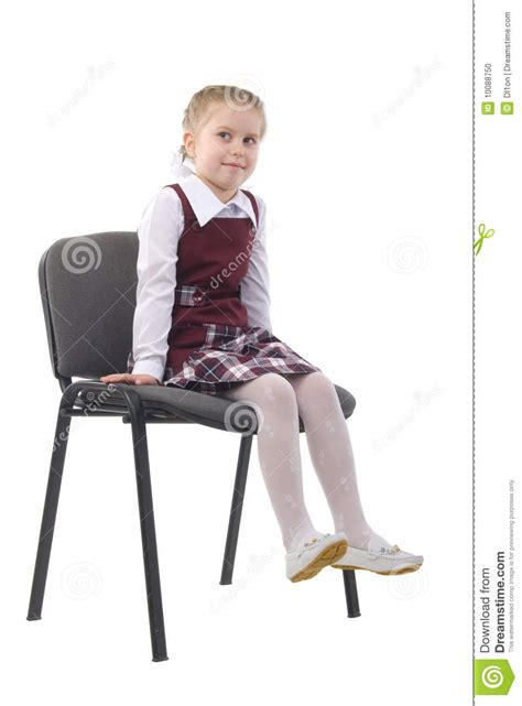 little girl on chair little girl on a chair stock photo image 10088750