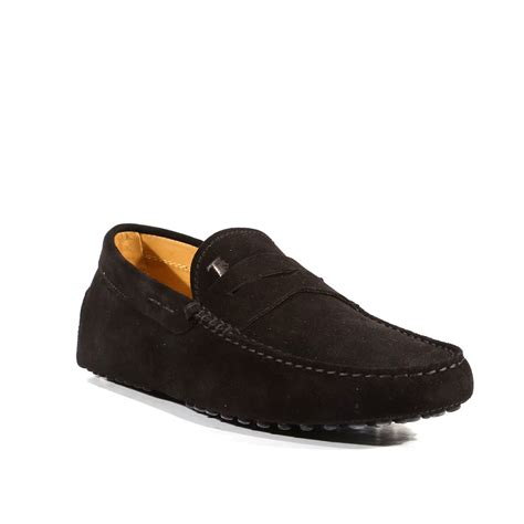 tods boots mens tods mens gommini shoes black suede driving moccasins tdm32
