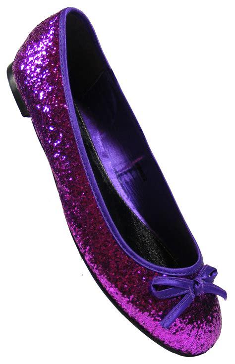flat purple shoes new purple glitter flat shoes slip on wedding pumps