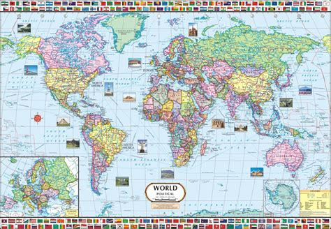 large wall map large world map canvas large canvas world map