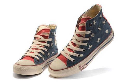 blue rag house shoes perfect heren nieuwe limited edition converse amerikaans us flag all star high top