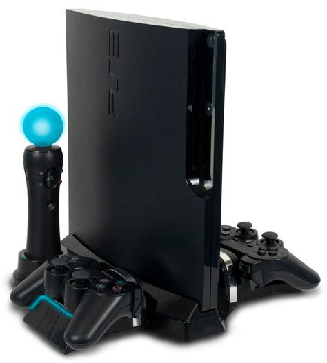 power stand charger for ps3 ps3 slim playstation move and dualshock charging station