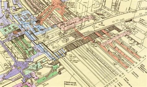 Sections Of Tokyo by Illustrated Cross Sections Of Major Stations In Tokyo By Tomoyuki Spoon Tamago