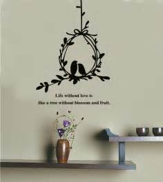 Living Room Wall Decor Quotes Olive Branch And Birds Wall Decals Stickers Quotes