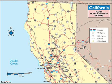 show map of california california transportation map northern california by maps