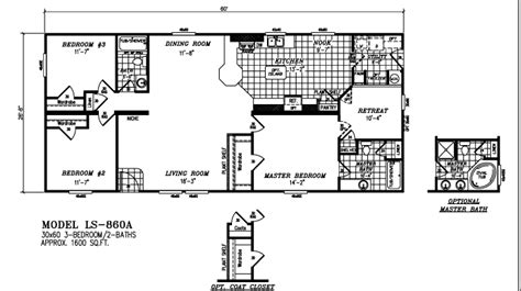 solitaire mobile home floor plans 28 images 4 bedroom