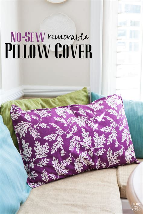 large no sew pillow in own style