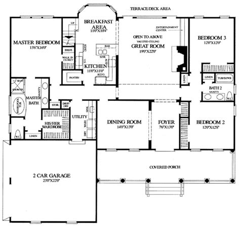 house plans floor master house plan 86104 at familyhomeplans