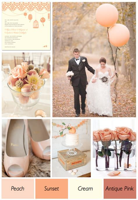 Peach And Cream Wedding Color Theme   Weddings By Lilly
