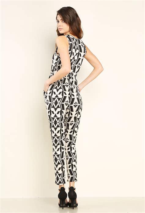 geo pattern jumpsuit geo pattern jumpsuit shop new and now at papaya clothing