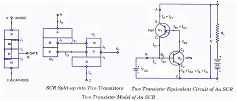 transistor model scr principle of operation electronic circuits and diagrams electronic projects and design