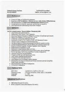 resume format for engineering freshers docusign transaction sap basis consultant resume format