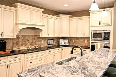 Great Wall Kitchen Union Nj by Fabuwood Cabinetry Wellington Ivory Finish Wellington Spice Two Tone Kitchen Cabinets Two