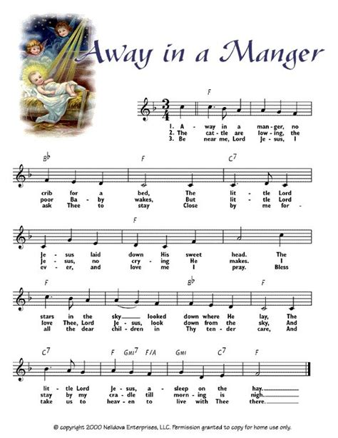 printable lyrics for away in a manger away in a manger christmas pics and printables pinterest