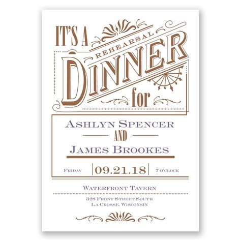 dinner invitation vintage charm rehearsal dinner invitation invitations by
