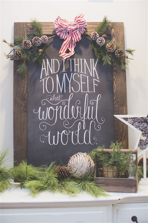 modern and simple farmhouse christmas decor inspiration 25
