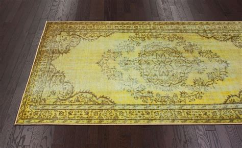 Funky Area Rugs New Transitional Traditional Funky Yellow Overdyed Grove
