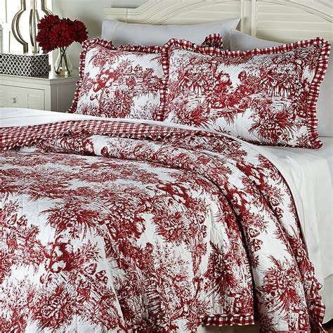 toile quilts and comforters bedroom furniture white toile bedding design with white