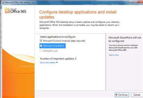 Office 365 Outlook Run How To Run Office 365 Settings And Install Outlook 2007