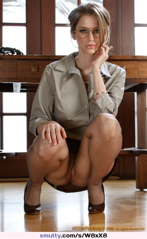 Secretary Pantyhose Upskirt Glasses Highheels Smutty Com