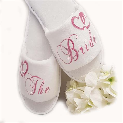 personalised spa slippers personalised spa slippers wedding guest shoe pink