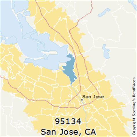 san jose map of zip codes best places to live in san jose zip 95134 california