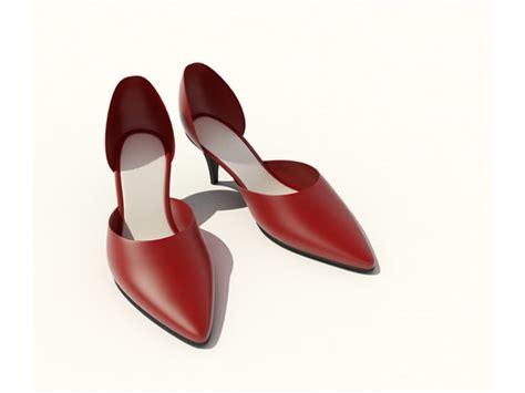 dress shoes 3d model 3dsmax files free modeling 8733 on cadnav