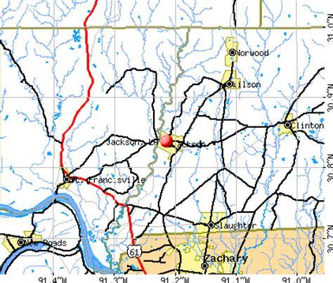 jackson louisiana map louisiana la profile population maps real
