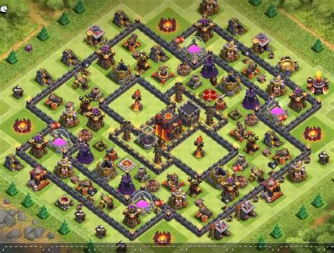 coc village layout th10 top 60 best th10 base layouts war farming hybrid