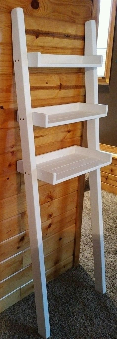 ainsley the toilet ladder the toilet leaning ladder shelf made to order
