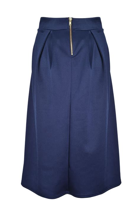 lustre raquel pleated skirt in navy iclothing