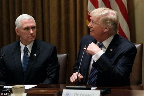 donald trump vice president vp pence walks high wire over trump scandals daily mail