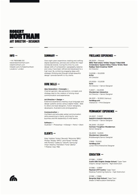 Resume Graphic Design Inspiration Design Inspiration The Of The R 233 Sum 233