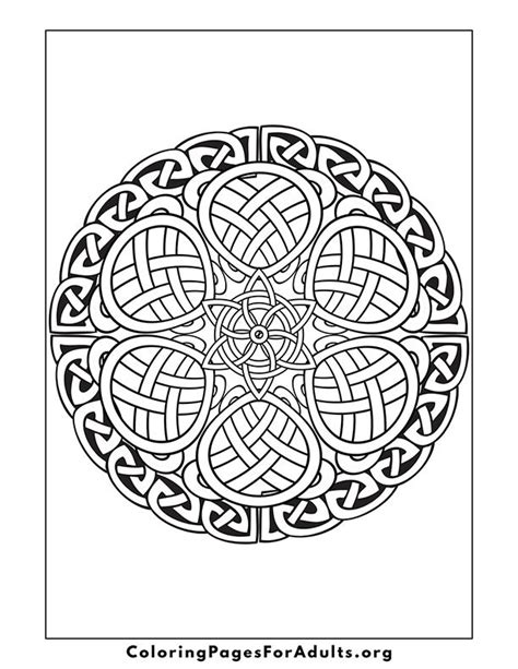 free coloring pages of celtic knots heart