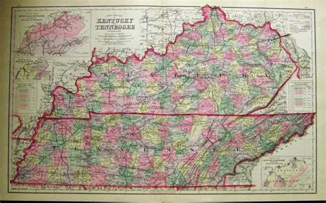 map kentucky and tennessee prints tennessee page